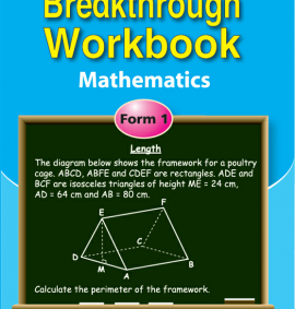 Breakthrough workbook Mathematics form 1